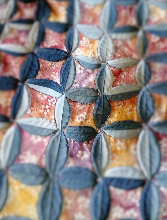 Denim Floral Utility Quilt