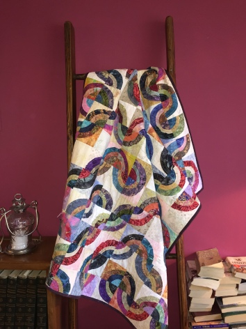 $400 Raw-edge applique; freehand custom long-arm quilted