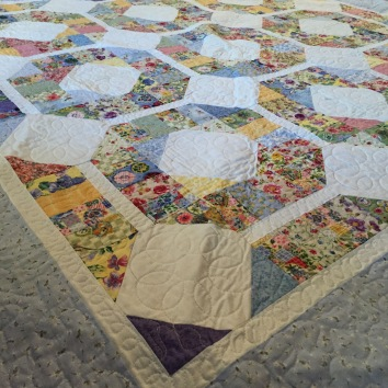 $450 Freehand custom long-arm quilted