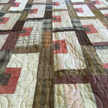 $700 Freehand long-arm quilted with 'Popcorn' panto
