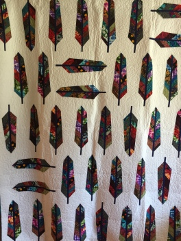 "73 x 90"" $850 Freehand custom long-arm quilting"