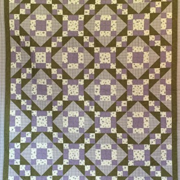 "85 x 96"" $800 Freehand long-arm panto quilted"