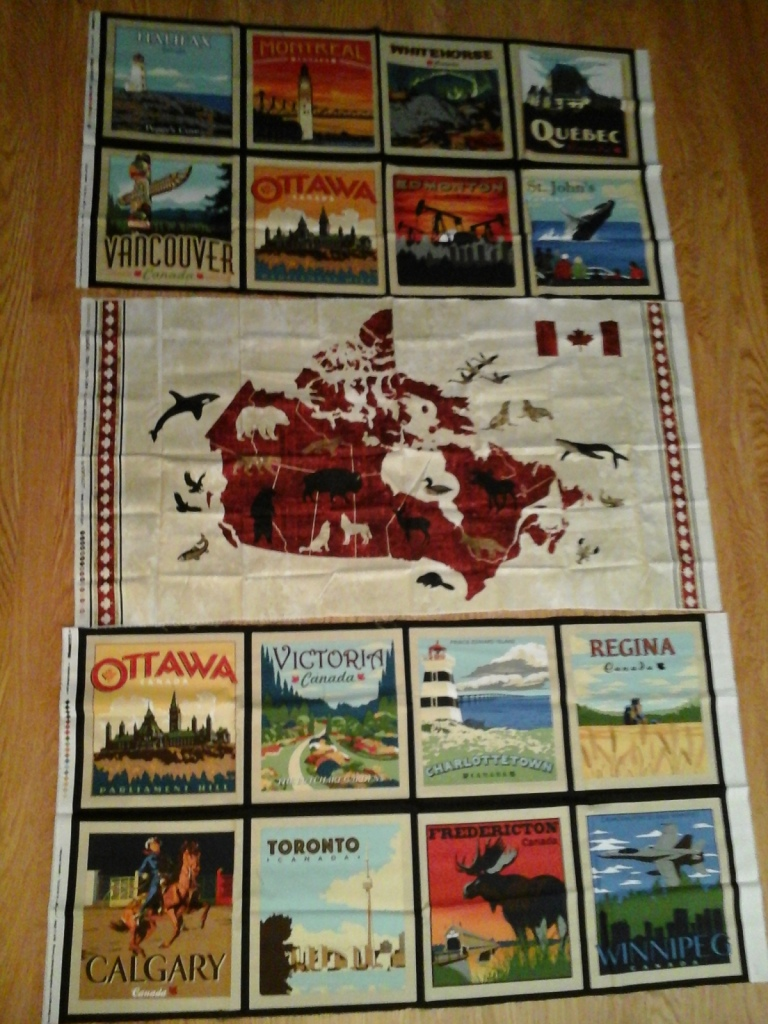 O Canada quilt backing