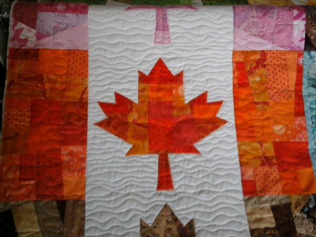 canada flag detail